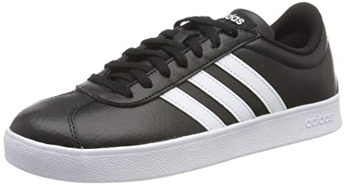 adidas VL Court 2.0, Scarpe da Ginnastica Basse Uomo, Nero (Black B43814), 44 2/3 EU