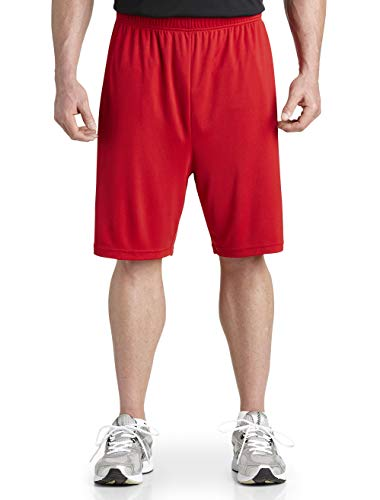 Reebok Big and Tall PlayDry Tech Athletic Shorts Red Black