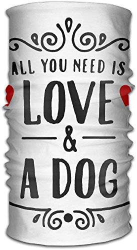 All You Need is Love and A Dog Unisex Sport Scarf Headbands Bandana Outdoor Sweatband Headwear