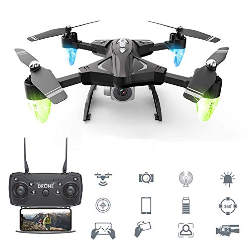 ZHCJH Best Drone RC Quadcopter WiFi FPV 1080P HD Camera with Altitude Hold Voice Control G-Sensor Trajectory Flight 3D Flips One Key Operation