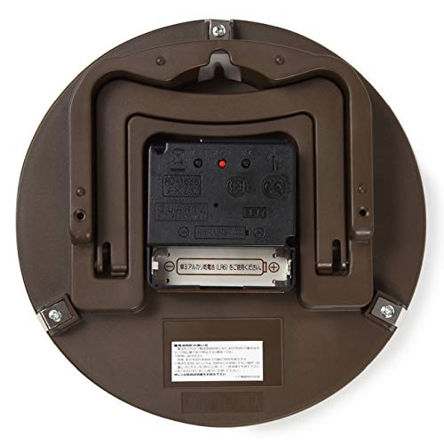 MAG(マグ)掛け時計電波アナログ置き掛け兼用ブラウンW-731BR-Z