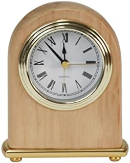 Personalized 4 x 5 Red Alder Arch Desk Clock - BRAND NEW