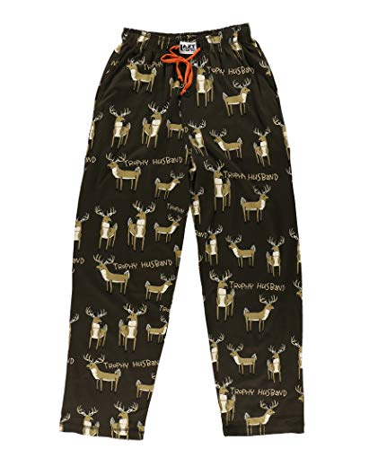Trophy Husband Men's Pajama Pants Bottom by LazyOne | Pajama Bottom for Men (Large)