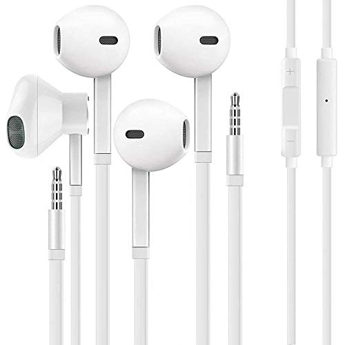 Earbuds,Earphones,3.5mm Wired Headphones,Earbuds with Microphone& Noise Isolating Earphones Volume Control Compatible with Phone/Samsung/Android/MP3/MP4[2 Pack]