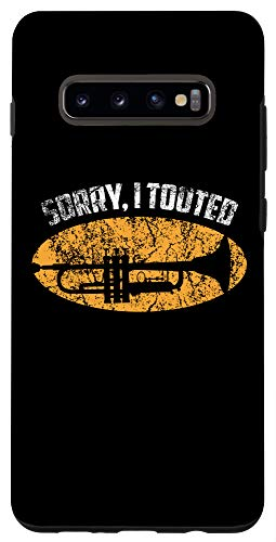 Galaxy S10+ Sorry I Tooted Trumpet Player - Jazz Music Gift Tee Case