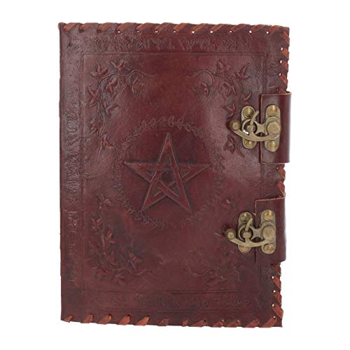 Nemesis Now - Diario piccolo in pelle con chiusura a libro, 27 cm, colore: Marrone