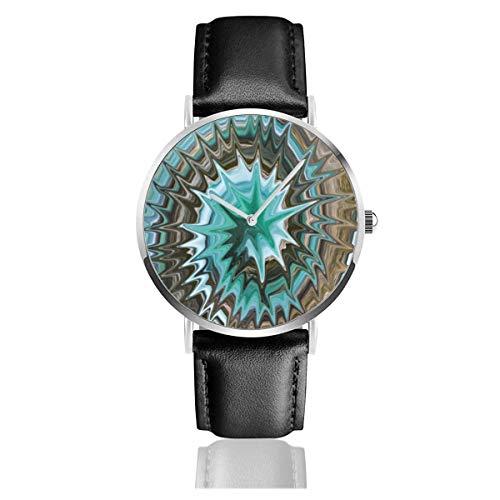 Relojes Anolog Negocio Cuarzo Cuero de PU Amable Relojes de Pulsera Wrist Watches Teñido Anudado Spiky Twirl