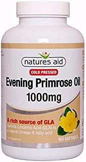 Natures Aid Evening Primrose Oil 1000mg (Cold Pressed) 180 Softgels - 5 Pack