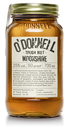 "O'Donnell Moonshine ""Harte Nuss"" Likör (700 ml) I Made in Germany I Natürliche Zutaten I Premium Haselnuss Schnaps nach Amerikanischer Tradition I 25% Vol. Alkohol"