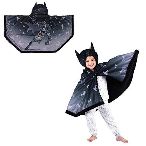 Franco Kids Bedding Super Soft and Cozy Snuggle Wrap Hoodie Blanket, 55' x 31', Batman