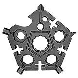 Llave multifunción 23-en-1 portátil de acero inoxidable copo de nieve clave herramienta mini colgante llave Pentagonal regalos para amigos, marido