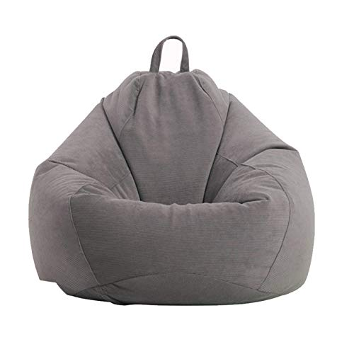 Funda para puf o sofá sin relleno, tumbona perezosa, respaldo alto, silla para adultos, cordón suave, lavable, puf, cojín para muebles, sillón, sofá, puf (funda solamente, sin relleno)