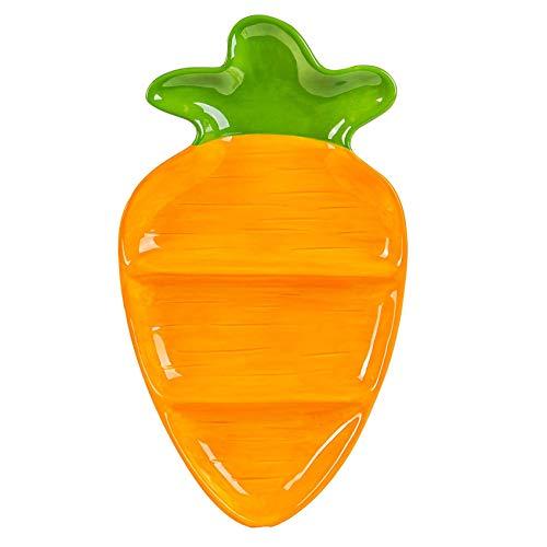 Nicola Spring Zanahoria Pascua Snack-Plate - pintado a mano bufé Partido Utensilios para servir Vajilla - 18.5cm - naranja