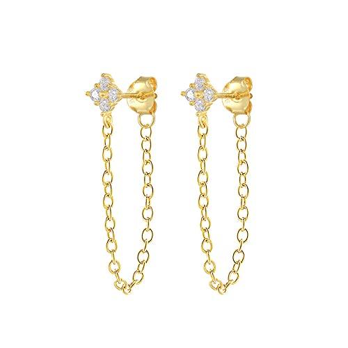 SEARCH Semplici orecchini con Nappe orecchini da Donna orecchini orecchini a Forma di Catena Pentientes-2
