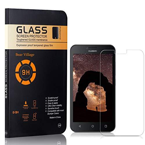 Bear Village Displayschutzfolie für Huawei Ascend Y560, 9H Härte Schutz, Keine Luftblasen, Ultra klar Schutzfilm aus Gehärtetem Glas Kompatibel mit Huawei Ascend Y560, 4 Stück