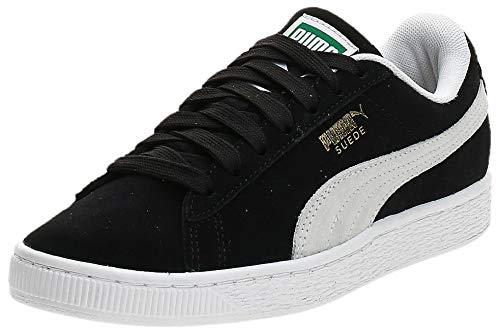 Puma Herren Suede Classic+ Sneaker, Schwarz (black-white), 44 EU
