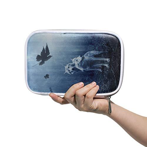 Mignon sac à cosmétiques loup forêt sombre prédateur chasseur d'animaux petits sacs à cosmétiques pour femmes sac à cosmétiques pour femmes multifonctionnel garçons voyage trousse de toilette pour ho