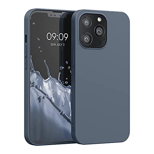 kwmobile Hülle kompatibel mit Apple iPhone 13 Pro - Hülle Silikon - Soft Handyhülle - Handy Hülle in Slate Gray