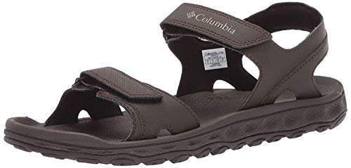 Columbia Men's Buxton 2 Strap Sport Sandal, Cordovan, Pebble, 8 Regular US