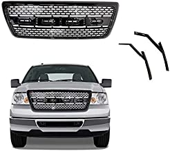 Front Grill for Ford F150 | 2004 2005 2006 2007 2008 | Raptor Style Glossy Black Mesh | by JX Accessories