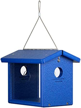 Kettle Moraine Recycled Bluebird Mealworm Feeder Hang or Mount Blue Blue product image
