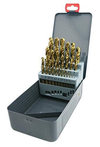 CD Juwel Greywolf HSS Tin Set 25 teilig Spiralbohrer Bohrer Metallbohrer DIN 338 Metallbox
