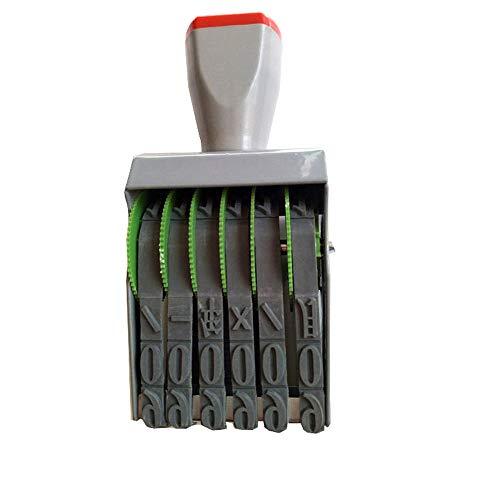 Data numeri arabi, 6 cifre-numerazione macchina timbri,diy cancelleria digitale timbro Timbro con rullo