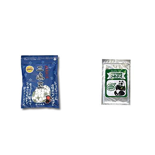 [2点セット] 飛騨 打保屋 駄菓子 三嶋豆(150g)・木曽産 熊笹100% クマササ微粉末 詰め替え用 (60g)