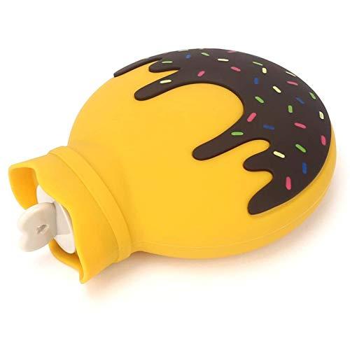 U-A Bolsa de Agua Caliente Calentador de Manos Donuts Silicona Inyección de Agua Calentador de Manos Estudiante Niño niña Botella de Agua Caliente portátil
