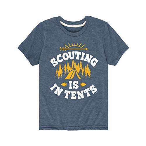Boy Scouts of America Scouting is in Tents - Youth Short Sleeve Graphic T-Shirt Heather Blue