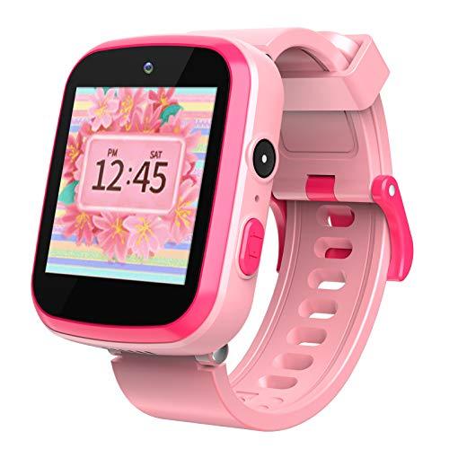 Smartwatch für Kinder - Majome Kinderuhr Mädchen mit Schrittzähler MP3-Kamera, Rechner und 9 Spiele Armbanduhr Kinder, geeignet für Geburtstagsgeschenke für Jungen und Mädchen im Alter von 3-12 Jahren