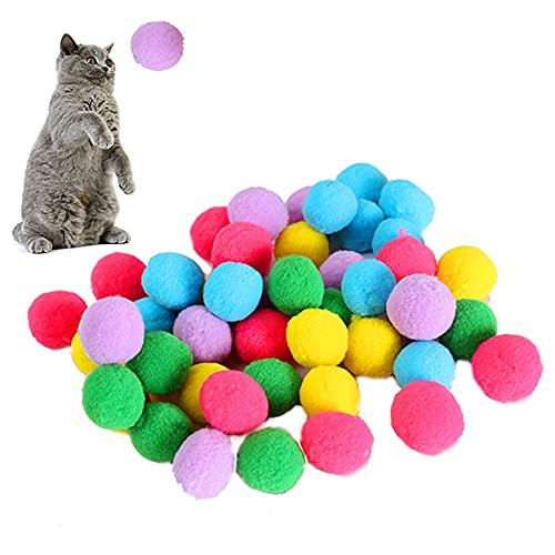 Wisetop Giocattoli per Gatti Palline, Palline rimbalzanti interattive.Cat Pet Forniture per Gattini Pet Giocattoli da Masticare Palla, Articoli per Animali Domestici Gattini Cane