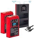 Baxxtar Pro (2X) Compatible con la batería Olympus BLS-5 BLS-50 (Real...