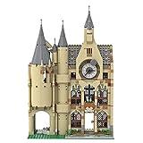 WWEI Torre de astronomía y reloj de torre, castillo, bloques de construcción, 1240 piezas, castillo, edificios, MOC, bloques de sujeción, compatible con Lego Harry Potter 75969/75948