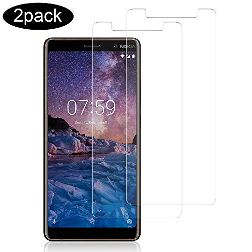 wsiiroon [2 Stück] kompatibel mit Panzerglas Schutzfolie Nokia 7 Plus, 9H Hartglas, Ultra-klar, Blasenfrei & Ultra Dünn Panzerglasfolie Bildschirmschutzfolie für Nokia 7 Plus