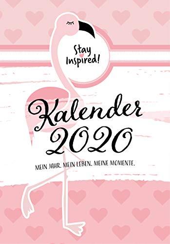 Terminkalender 2020, Wochenplaner 2020: Terminplaner 2020 mit festem Datum im DIN A5-Format und Hardcover | Datierter Wochenkalender, Buchkalender und ... Kalender. Flamingo Style In Rosa & Pink