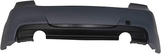 Bumper Compatible With 2006-2011 BMW E90 3 Series Sedan 335 335i   M-Tech Msport Rear Bumper Cover & Diffuserby IKON MOTORSPORTS   2007 2008 2009 2010