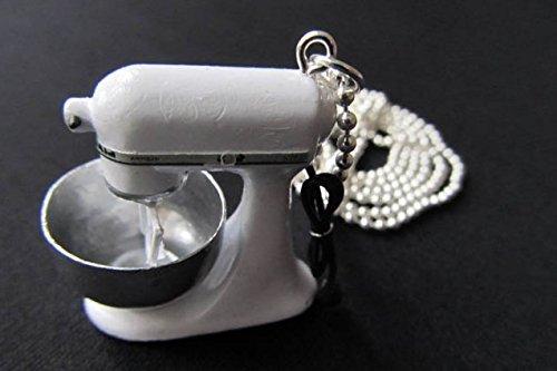Foto von Miniblings Küchenmaschine Kette Halskette 80cm Kochen Backen Koch Küche Mixer - Handmade Modeschmuck - Kugelkette versilbert