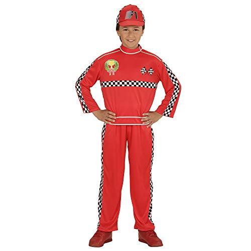 Widmann 72886 ? Costume de Formule 1 Pilote, Haut, Pantalon et Bonnet pour Enfant Rouge
