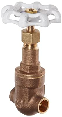 "Milwaukee Valve UP149 Series Bronze Gate Valve, Potable Water Service, Rising Stem, 3/8"" Solder Ends from Milwaukee Valve"