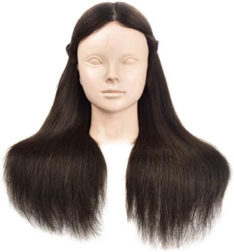 Mannequins de couture reglable Formation Head Maquillage pratique Mannequin Tête Tresse cheveux Styling Salon de coiffure coupe de cheveux Mannequin tête Modèle réel des cheveux perruque de cheveux po