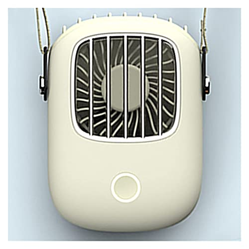 DAGUAI Ventilador de Cuello de colgaje portátil Mini Bolsillo de Aire de refrigeración de Aire Ventilador de Verano Viaje al Aire Libre Lanyard HandFree Cooler USB Fanático cargable (Color : White)