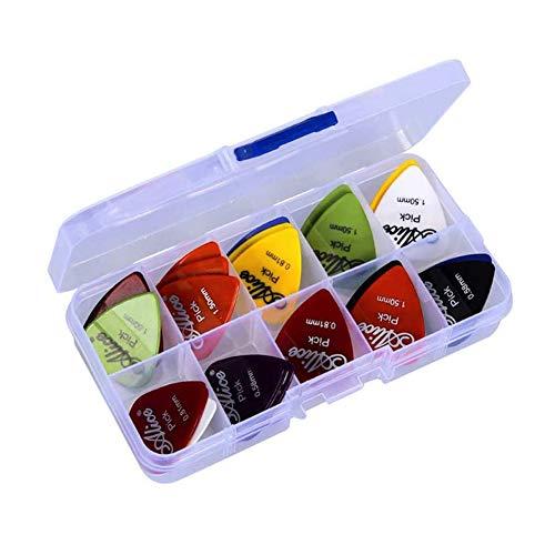 Deolven Plektren für Gitarre,40er Pack Plektren im Set Guitar Picks Plektrum für Akustikgitarre E-Bässe E-Gitarr Ukulele Bas 0.58 mm 0.71 mm 0.81 mm 0.96 mm 1.2 mm 1.5 mm
