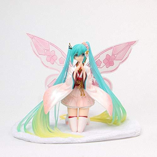 CLEARNICE Anime Gutes Lächeln Racing Kimono Ver. Hatsune Miku Tony Schmetterling Schöne Statue Figur Modell Spielzeug