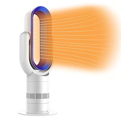 Mise À Jour Ventilateur Sans Lame Chauffage Chaud+Ventilateur Cool 25Inch Électrique Oscillation Verticale Ventilateur De Sécurité...