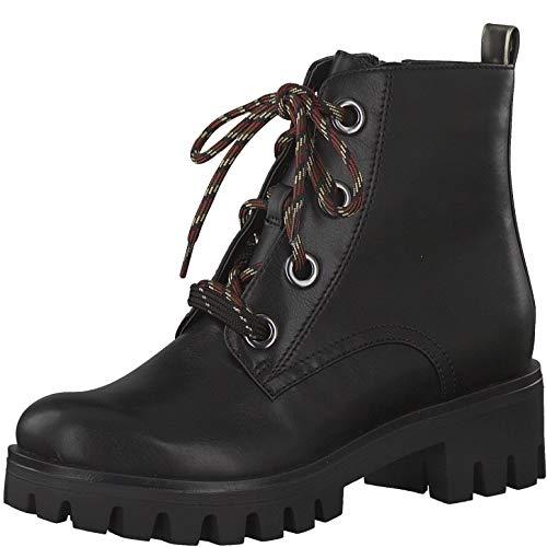 Tamaris Damskie kozaki, buty sznurowane, czarny - Schwarz Blk Anthracite - 37 eu