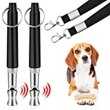 Dog Whistle to Stop Barking, Adjustable Pitch Ultrasonic Stainless Steel Dog Training Whistle