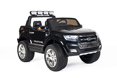 Babycar Auto per Bambini Ford Ranger Wildtrak Luxury (Nero) New 24 Volt 4X4 LCD con Telecomando sedili in Pelle e Ruote in Gomma