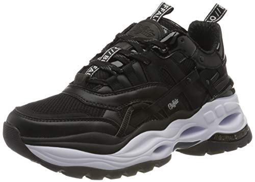 Buffalo Damen Triplet Hallow Sneaker, Black, 39 EU