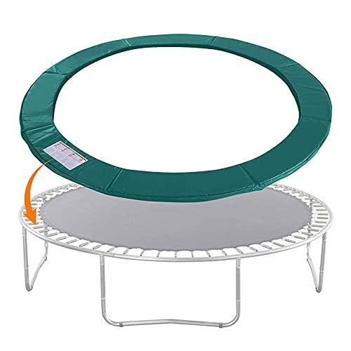 YULINGSTYLE Trampoline Net Replacement, Cubierta De Trampolín Cubierta De Protección De Resorte Redondo Protección De Borde Accesorios De Trampolín para Varios Modelos Marco Redondo-Green||15 FT